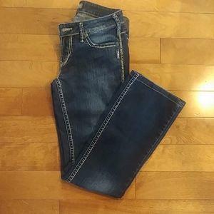Silver Aiko Bootcut Jeans 28x33 dark wash
